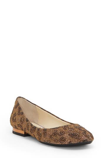 Jessica Simpson Ginelle Beaded Ballet Flat, Brown