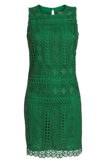 Vince Camuto Lace Sheath Dress, Green