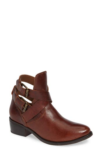 Matisse Raider Wraparound Strappy Bootie, Brown