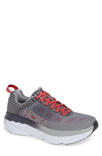 Hoka One One Bondi 6 Running Shoe- Grey
