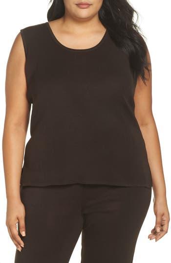 Plus Size Ming Wang Knit Tank, Brown