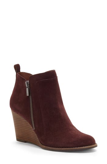 Lucky Brand Yahir Wedge Bootie, Purple