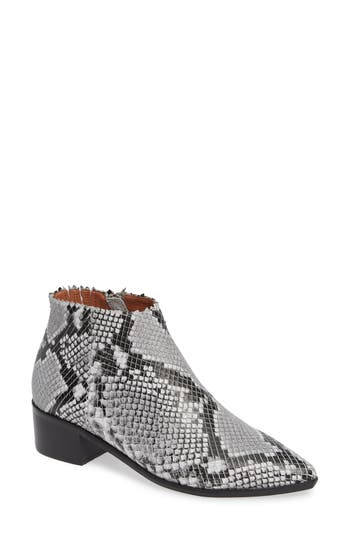 Dexie Bootie, Snake Print Leather