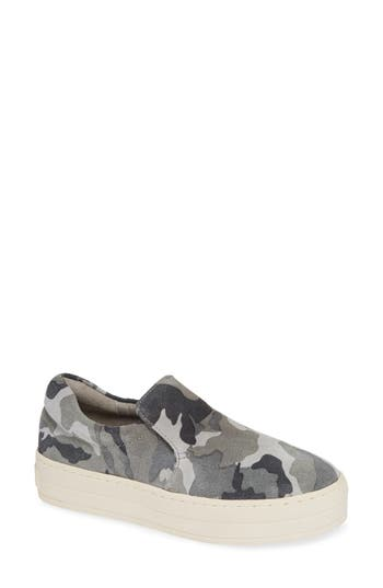 Harry Slip-On Sneaker, Grey Camo Suede