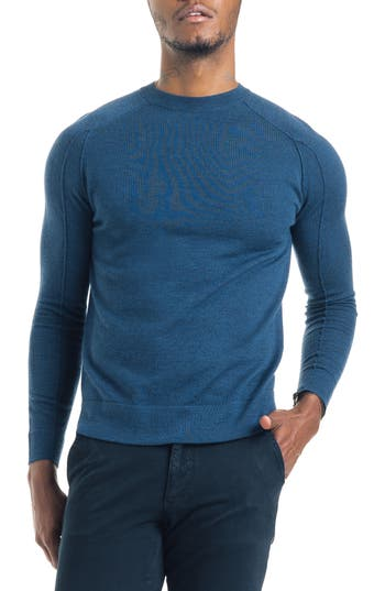 Good Man Brand Modern Slim Fit Merino Wool Sweater, Blue