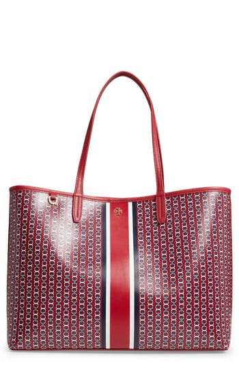 Gemini Link Coated Canvas Tote - Red