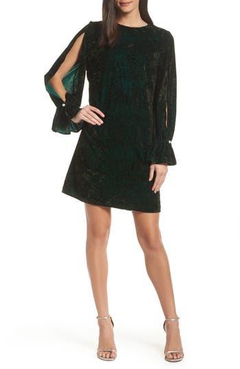 Sam Edelman Crushed Velvet Shift Dress, Green