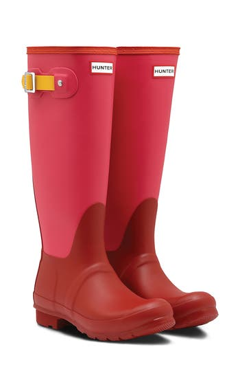 Hunter ORIGINAL COLORBLOCK KNEE HIGH WATERPROOF RAIN BOOT