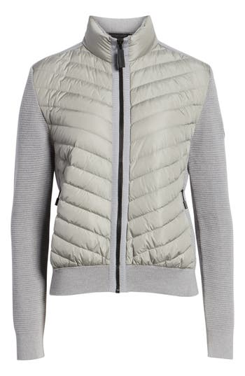 Canada Goose Hybridge Quilted & Knit Jacket, (6-8) - Grey