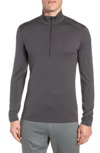 Icebreaker 260 Tech Merino Wool Half Zip Base Layer Top, Grey