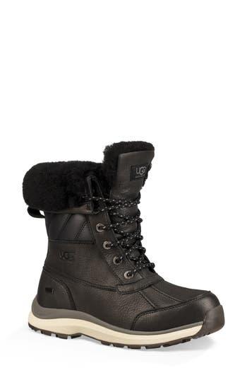Ugg Adirondack Iii Waterproof Insulated Winter Bootie, Black Leather