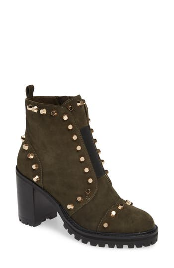 Linea Paolo Honour Studded Bootie, Green