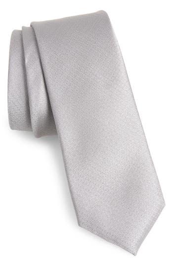 1960s – 70s Men's Ties   Skinny Ties, Slim Ties Mens Calibrate Clara Solid Silk Skinny Tie Size Regular - Metallic $59.50 AT vintagedancer.com
