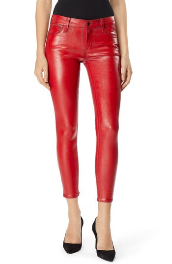 J Brand 835 Capri Skinny Jeans, 3 - Red