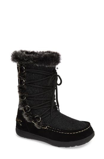 Woolrich Lace Up Bootie, Black