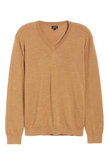 J.crew V-Neck Merino Wool Sweater, Brown