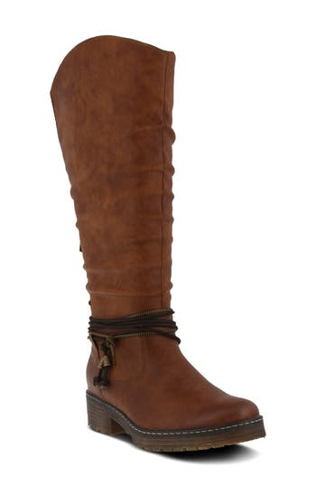 Spring Step Vanquish Knee High Boot - Brown