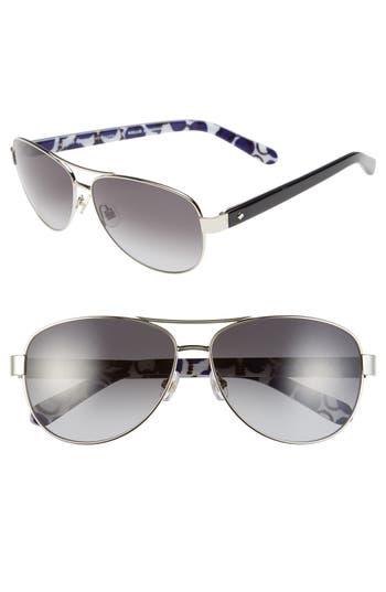 Women's Kate Spade New York 'Dalia2' 58Mm Aviator Sunglasses -