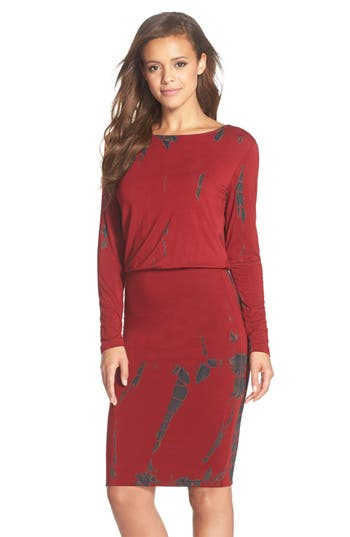 Women's Fraiche By J Tie Dye Blouson Midi Dress