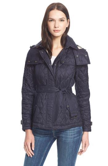 Women's Burberry Brit 'Finsbridge' ShortQuilted Jacket