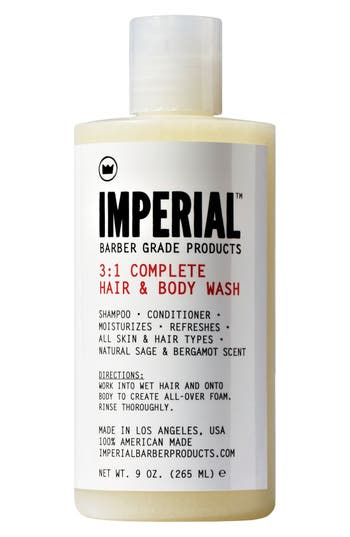 Imperial Barber Grade Products™ '3-To-1 Complete' Shampoo, Conditioner & Body Wash