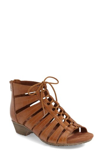 Women's Rockport Cobb Hill 'Gabby' Lace-Up Sandal, Size 6.5 W - Brown