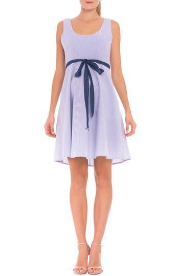 Women's Olian 'Ava' Seersucker Maternity Dress