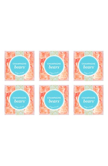 Sugarfina Set Of 6 Champagne Bears Candy Cubes