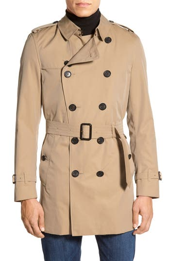 Men's Vintage Style Coats and Jackets Mens Burberry London Kensington Double Breasted Trench Coat Size 46 - Beige $1,795.00 AT vintagedancer.com