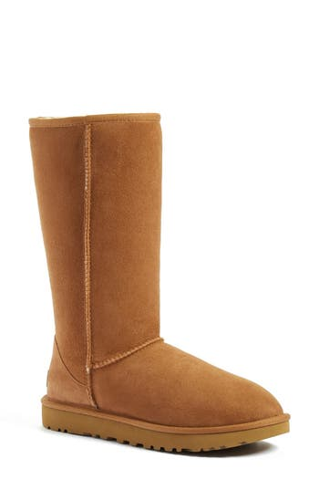 Women's Ugg 'Classic Ii' Genuine Shearling Lined Tall Boot, Size 5 M - Brown