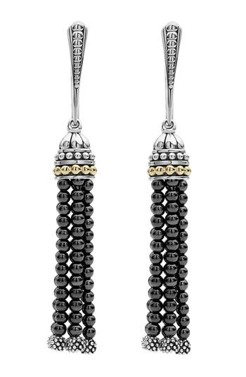 Women's Lagos Caviar Icon Tassel Drop Earrings