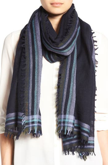 Women's Tory Burch 'Signature' Wool Scarf