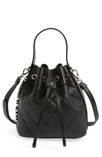 Mocscino Mini Letters Quilted Bucket Bag -