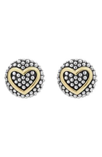 Women's Lagos 'Caviar' Heart Stud Earrings
