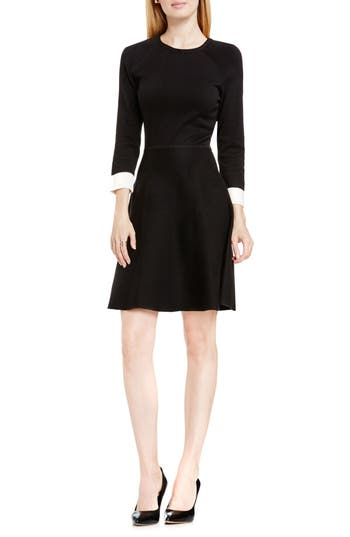 Vince Camuto Fit & Flare Sweater Dress, Black