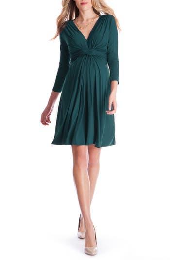 Women's Seraphine 'Jolene' Front Knot Maternity Dress
