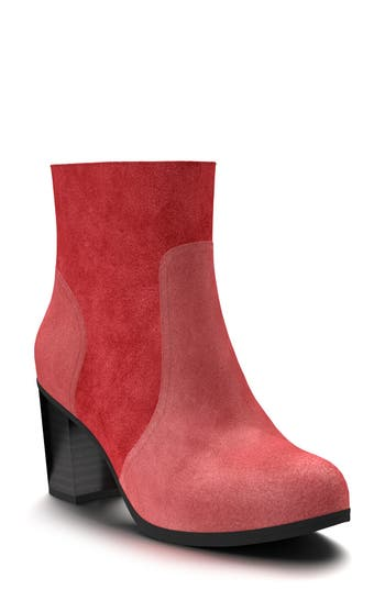 Shoes Of Prey Block Heel Bootie - Red