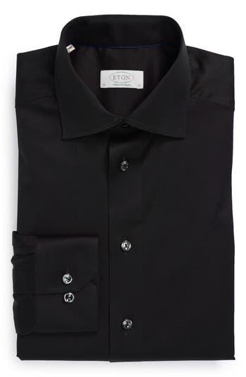 Men's Eton Contemporary Fit Solid Dress Shirt