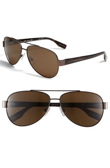 Men's Boss Polarized Aviator Sunglasses -
