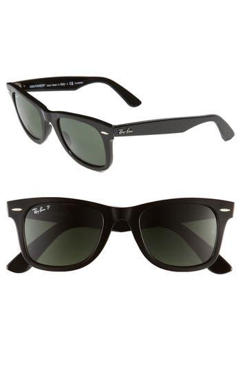 Ray-Ban Standard Classic Wayfarer 50Mm Polarized Sunglasses - Black Polarized