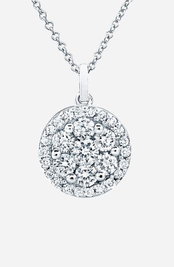 Women's Bony Levy Flower Button Diamond Pendant Necklace (Nordstrom Exclusive)