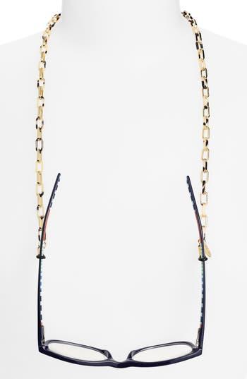 Women's L. Erickson 'Magdelan' Mini Metal Link Eyewear Chain - Ivory Tokyo/ Gold