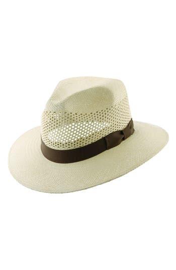 Scala Panama Straw Fedora -