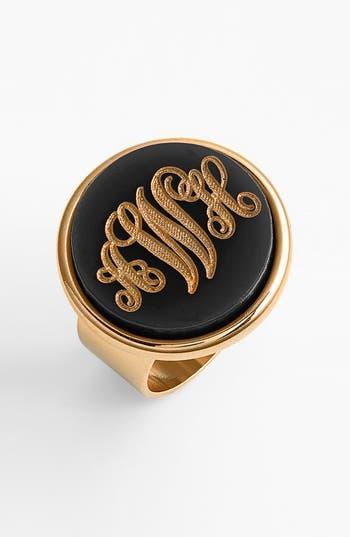 Women's Moon And Lola 'Vineyard' Personalized Monogram Ring