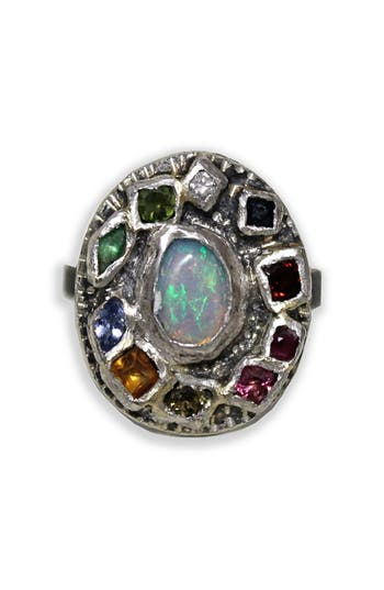 Women's Franny E Jewelry Opal & Mixed Gem Statement Ring