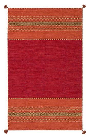 Surya Home Trenza Global Stripe Rug, Size Swatch - Red
