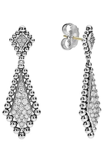 Women's Lagos Caviar Spark Diamond Drop Earrings