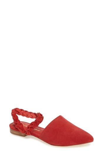 Matisse Braided Strap Flat- Red