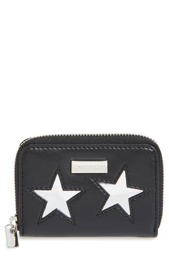Stella Mccartney Lame Stars Faux Leather Coin Purse -