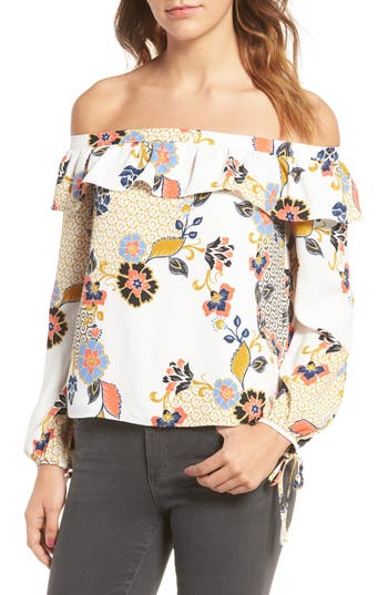 Women's Cooper & Ella Leticia Off The Shoulder Blouse, Size X-Small - Ivory